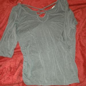 Forever21 grey 1/2 sleeve  (bundle buy 3\$12)